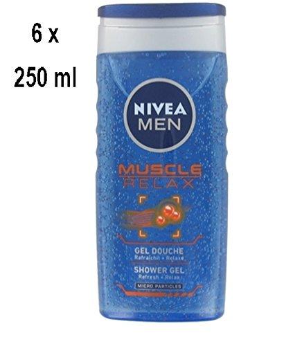 "6 x NIVEA Duschgel Men ""Muscle Relax"" - 250 ml"