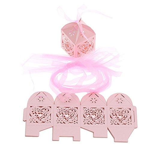 Süßigkeiten Hochzeit Geschenke Papier Candy Boxen Hohl Box Taschen mit Schleifen Bridal Dusche (Süßigkeiten Taschen Für Baby-dusche)
