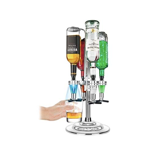 Bar Butler Flaschenbutler Flaschenhalter und Dosierer Licht-up-Bar Caddy Getränkeportionierer für 4 Flaschen Schnaps Cocktail Party Geschenk Getränkespender Hausbar Cocktailbar Schnapsspender -