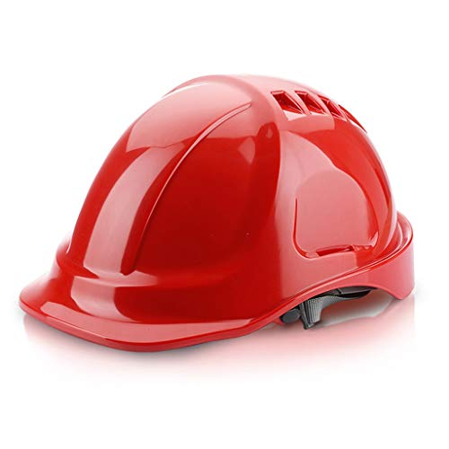 Yuke ABS Helm, Baustellenhelm Hard Hat (Color : Red) -