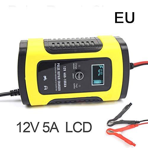Preisvergleich Produktbild sugeryy Motorrad 12 V 5A Auto Intelligente Pulsreparatur Mit LCD Blei AGM Gel Wet Blei-Säure-Ladegerät