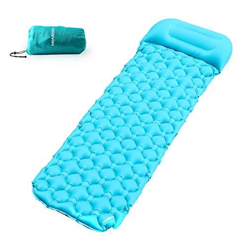 MIABOO Picknickdecke 200 * 140 cm Ultraleicht Stranddecke wasserdichte, kompakt, Sandabweisende, Tragbare Camingmatte Matte mit 4 Pfähle Ideal für (Grün) -