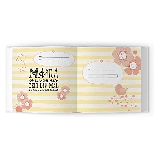 Das Erinnerungsbuch für die beste Mama der Welt. Ausfüllbuch zum Verschenken für die Mama zum Geburtstag, oder Muttertag. Liebevolle Geschenkidee für Mama von Tochter und Sohn.