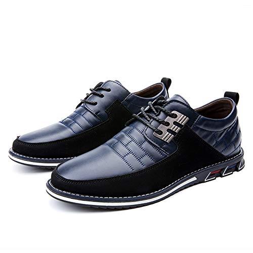 Hommes Loisirs Britannique À Lacets Entreprise Oxford Chaussures en Cuir Confortable Respirant Classique Couture Conduire Bureau Mocassins