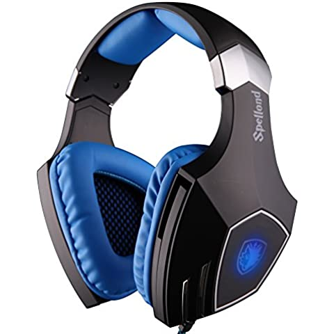 Sades Spellond Braided Fiber Wired Gaming Headset with 7.1 Vibration
