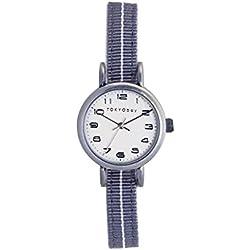 TokyoBay t394-gy Damen-Edelstahl bicolor Nylon Band weiß Zifferblatt Smart Watch