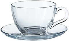 Idea Regalo - Pasabahce Basic Set 6 Tazze Tè con Piattino in Vetro