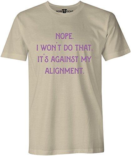 Against My Alignment - Herren Warcraft Slogan T Shirt Sand