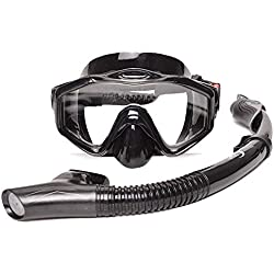 ERTO Masque de Plongee Masque De PlongéE Scaphandre Panoramique à Champ Large Anti-Brouillard Respiration Simple Et éQuipement De PlongéE en ApnéE Professionnelle