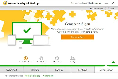 Norton Security mit Backup - 10 Geräte (PC, Mac, Android, iOS) (Product Key Card) - 5