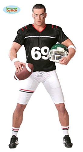 KOSTÜM - FOOTBALL SPIELER - Größe 52-54 (L), Player Nationalsport Sportler NFL USA Trikot (Kostüm Sportler)