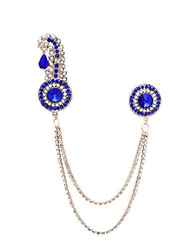 Blue Sherwani Brooch for Men