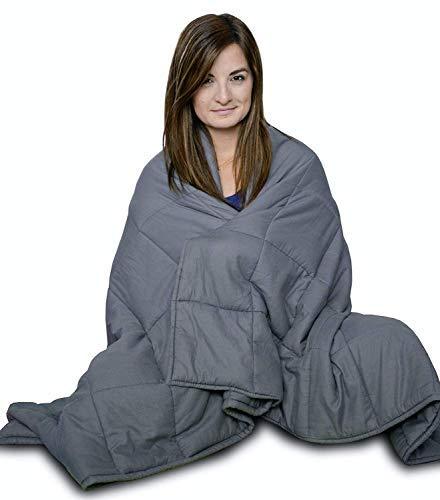 CuddleBug Therapiedecke Gewichtsdecke - Schwere Decke für Erwachsene/Jugendliche Für Besseren Schlaf, Größe: 153 x 203 cm, 9 kg