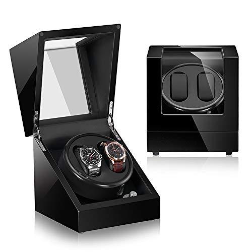 XBECO Automatische Holz Uhrenbeweger Display Box 2 + 0 Speicher-Leder Kissen/Klavierlack/gehärtetes Glas/Japan Motor -