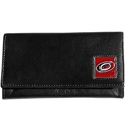 NHL Carolina Hurricanes Women's Leather Wallet