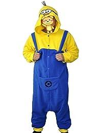 CuteOn Kigurumi Fleece Unisexo Adulto Disfraz Pijama Onesie Minions Cosplay Tamaño S-XL