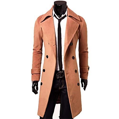 TOVKC Herrenjacke Winter Trenchcoat Männer Marke Kleidung Kühlen Mens Langen Mantel Top Qualität Baumwolle Männlichen Mantel M-3Xl, XL, Kamel