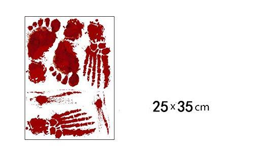 sblut handprint Wandaufkleber rot 25x35cm ()
