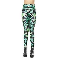 Mieuid Mujer Leggings para Estampado De Pantalones Chic 3D Friends Delgado Lápiz Elástico Pantalones Cintura Elástica Pantalones Casuales Pantalones De Jogging (Color : Verde, Size : One Size)