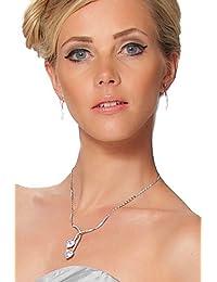 SEXYHER Schöne Swarovski Halskette und Ohrringe Set