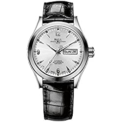Reloj Ball Engineer II Ohio, Ball RR1102, Blanco, Correa de Cocodrilo, 40mm.
