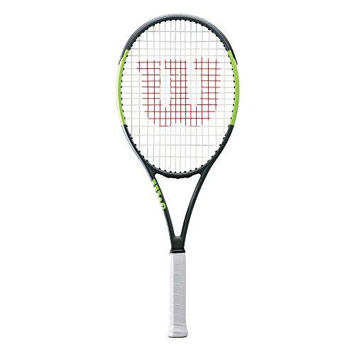 Wilson Damen/Herren-Tennisschläger, Attacker, Erfahrene Spieler und Profis, Blade Team 99, Größe 2, schwarz/grün, WRT73860U2 -