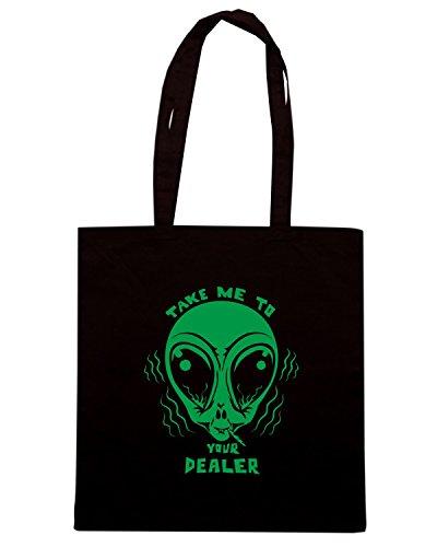 T-Shirtshock - Borsa Shopping FUN0147 06 12 2013 Take Me To Your Dealer T SHIRT det Nero