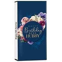 Chocholik Birthday Day Gift – Happy Birthday to My Hubby 70% Dark Belgium Chocolate Bar - 100gm (3.5Oz)