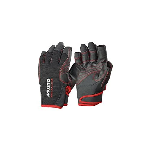 414BBImaYRL. SS500  - Musto Performance Short Finger Gloves - Adults Unisex Black - Perfect for Watersports in Warm Conditions - Easy Movement