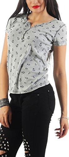 SKUTARI- Damen Shirt aus 100% Baumwolle Grau ...