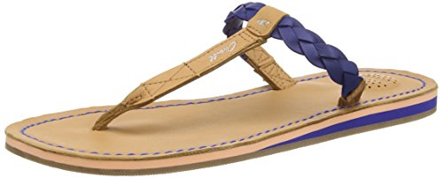 O'NEILL Venice crust leather, Damen Flip-Flop Blau (SB7 Surf the Web)