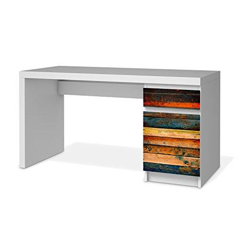 IKEA Malm Schreibtisch Kommode Möbel-Folie Design Wooden Schutz Dekorations-Element