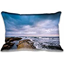 """20""""X30"""" Cotton&Polyester La Jolla Shore Pillow Cover Home Decorative Pillowcase Cushion Cover (Twin Side)New Year Gift"""