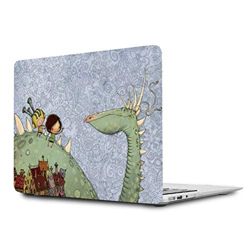 MacBook Air 11 Hülle,Maetek Plastic Pattern Hard Case Shell, Apple Laptop Folio Protective Cover with Bright Color Pattern for MacBook Air 11.6 Model A1370&A1465, Dinosaur