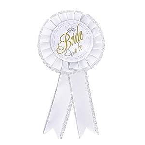 Gifts 4 All Occasions Limited SHATCHI-768 - Insignia para despedida de soltera, accesorio para despedida de soltera, color blanco
