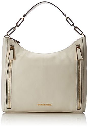 Michael Kors Matilda Large Calfskin Shoulder Bag, Sacs portés épaule Beige (Ecru 117)