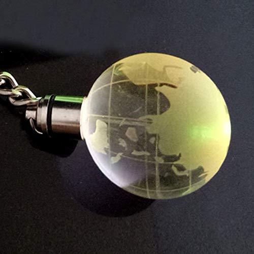 Glow LED Orb Kristall 3D Gravierte Schlüsselanhänger Schlüsselanhänger Schlüsselanhänger Geschenk, Globus, 0.6_mm Nützlich und PraktischCarry Stone