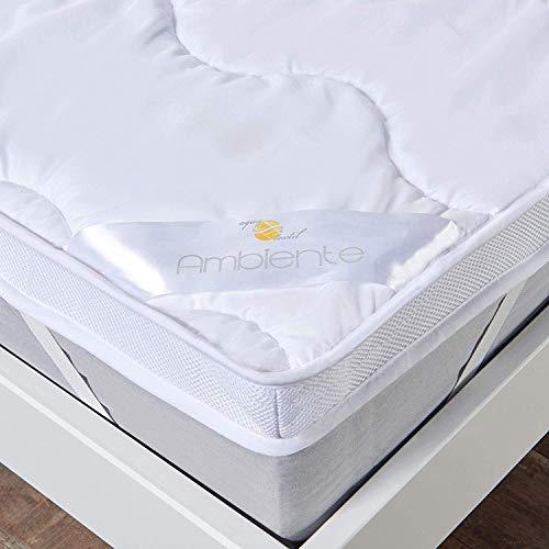 aqua-textil Ambiente Matratzenschoner Topper Auflage 90 x 200 cm weiß Luxus Mikrofaser Unterbett...