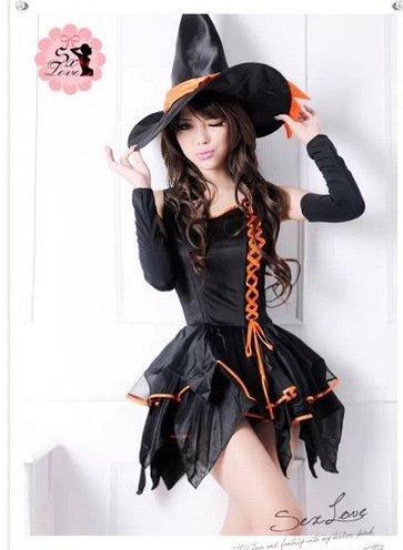 Gorgeous Frauen Cosplay Kostüm Halloween-Hexe Kleid Teufel Kleid weibliche Vampir Prinzessin Kleid Nachtclub ds kleine Hexe (Hexe Weibliche Kostüm)