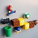 aoforz-Yobby - Imanes 3D para Nevera, 10 Unidades, diseño de Super Mario Bros.