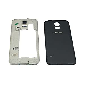 Replacement Samsung Galaxy S5 i9600 Full Body Housing Panel Face Plate battery back door Black