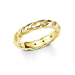 Idea Regalo - s.Oliver Jewel - Anello, argento dorato con zirconia, Donna, taglia 14