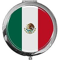 """metALUm - Extragroße Pillendose in runder Form""""Flagge Mexiko"""" preisvergleich bei billige-tabletten.eu"""