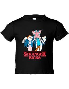 Camiseta niño Stranger Things Rick And Morty Stranger Ricks