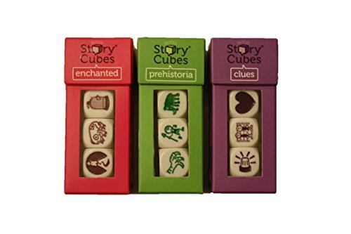 Rory's Story Cubes - Prehistoria, Enchanted, Clues (Set of 3) by Gamewright