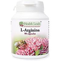 L-Arginina 500mg x 90 cápsulas (no estearato de magnesio)