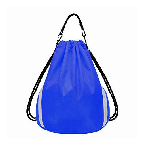 etach Outdoor Ausreit Schultertasche Sport Basketball Kordelzug Bag Travel Rucksack Yoga Fitness Folding Bag marineblau