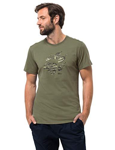 Jack Wolfskin Herren Paw T-Shirt, Woodland Green, XXXL -