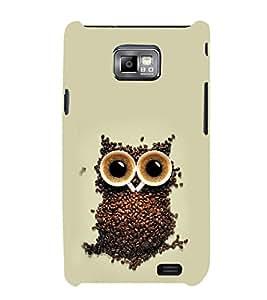 EPICCASE coffe owl Mobile Back Case Cover For Samsung Galaxy S2 (Designer Case)