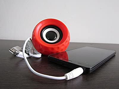 UBON SP-826 Speaker With Rechargeable Battery Support For Mobile, Tablet, iPod, Laptop, PC With Aux Support - Red